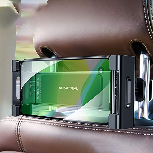 XER Car Tablet Holder, Car Headrest Mount, Universal 360 Rotating Car Rear Telescopic Bracket for All 4~11' Tablets,D