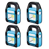 4 Pack 3 IN 1 Solar USB Rechargeable Brightest COB LED Camping Lantern, Charging...