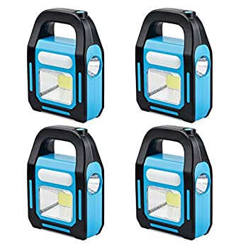4 Pack 3 IN 1 Solar USB Rechargeable Brightest COB LED Camping Lantern Charging for Device Waterproof Emergency Flashlight LED Light