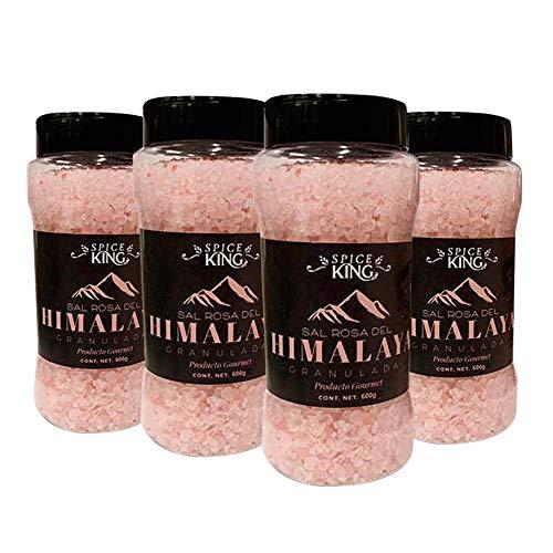 Especias Moy Moy Sal Del Himalaya Granulada, 600 gr c/u, Salado. Paquete de 4