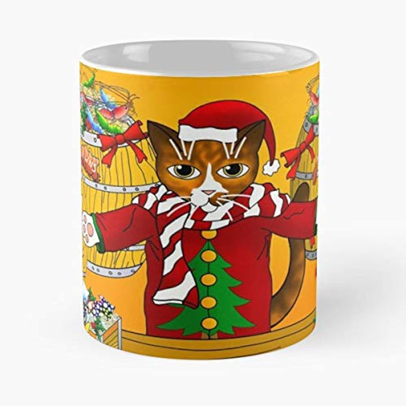 Christmas Family Shopping Holidays - 11 Oz Coffee Mugs Ceramic The Best Gift For Holidays, Item Use Daily