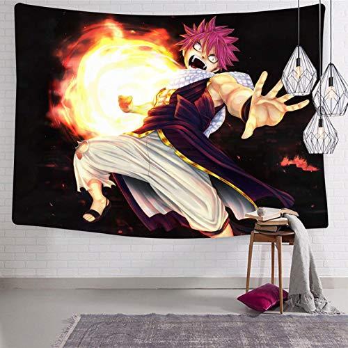 3354 Tapiz para colgar en la pared, diseño de anime Fa-iry Ta-il Na-tsu, suave y divertido, decoración estética, para habitación de cama de 133 x 21 cm