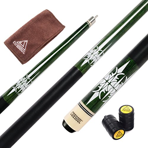 CUESOUL 57 Inch Pool Cue with 13mm Cue Tips with Cleaning Towel & Joint...