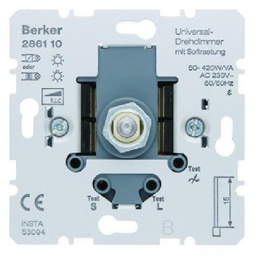 Hager 286110 regulador Regulador de intensidad Montable Metálico - Reguladores (Regulador de intensidad, Montable, Giratorio, Metálico, 230 V, 50-60 Hz)
