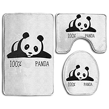 Baby Bath Mat, 3 Piece Bathroom Rug Set 100% Panda White Nonslip Bathroom Rug Mat Dustproof Toilet Cover For Men Women Kids, Bathroom Rugs, Bathroom Accessories