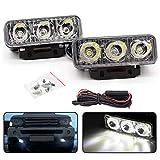2 Set LED Daytime Driving Lights 3-Leds DRL Fog Lmap Daytime Running Light Kit Universal Fit for Car SUV Sedan Coupe Vehicle Universal