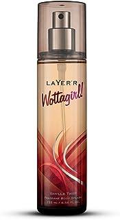 Layer'r Wottagirl Vanilla Twist Body Splash For Women, 135ml