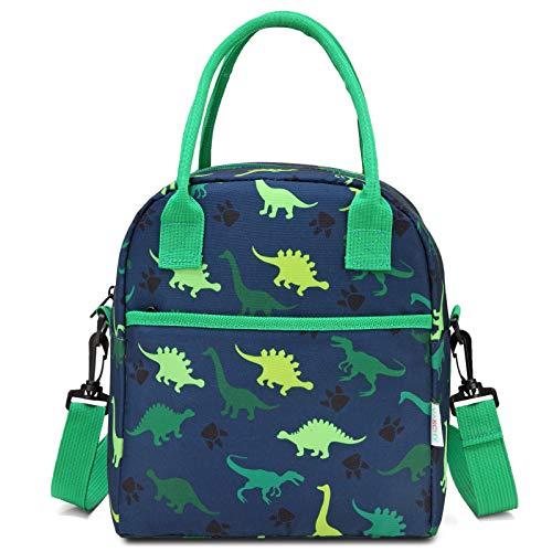 Bolsa de almuerzo para niños, de Vaschy, de neopreno, aislada, con dinosaurios, bolsa isotérmica para niños, para la escuela, guardería, guardería, almuerzo, muertos, etc.