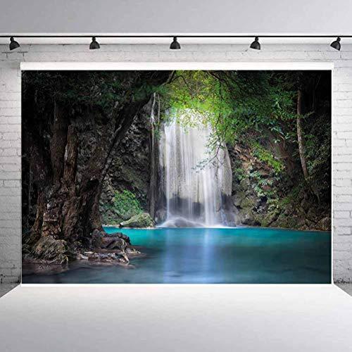 6x6FT Vinyl Backdrop Photographer,Nature,Rainforest with Waterfall Photo Backdrop Baby Newborn Photo Studio Props