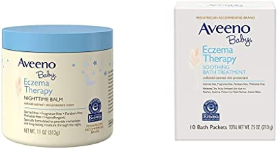Aveeno Baby Eczema Therapy Nighttime Balm with Natural Colloidal Oatmeal for Eczema Relief, 11 oz. with Aveeno Baby Eczema...