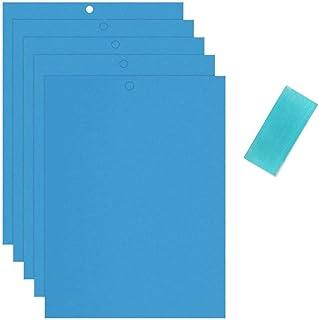 HonLena Fliegenfängern Sticker, 30 Stück Blautafeln Fliegenfallen,20cm x 15cm Gelbe Klebrige Papiere für Pflanzeninsekten wie Pilzmücken, Blattläuse, Weiße Fliegen, Bergleute