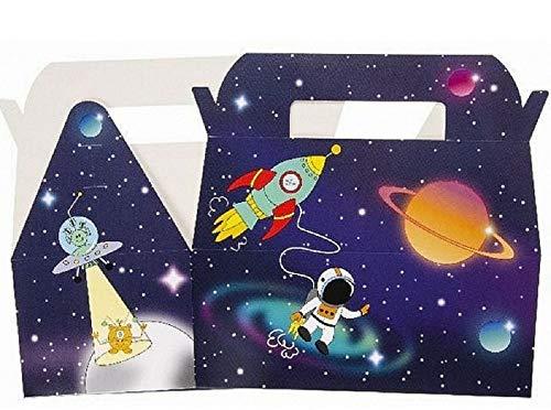 LG-Imports 12x Mitgebselbox Weltraum | Rakete | Space | Partybox | Partytüten