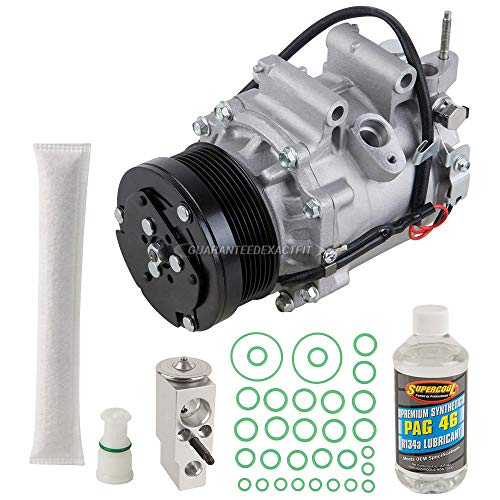 AC Compressor & A/C Kit For Honda Civic 1.8L Coupe 2006 2007 2008 2009 2010 2011 w/ 3-Pin Connector - BuyAutoParts 60-81188RK NEW