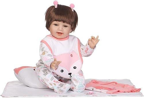SupportsHelp Reborn Babypuppen, NPK 3D Sch  Weiße Silikon Realistische Baby Doll Lebensechte Reborn Stoffpuppen