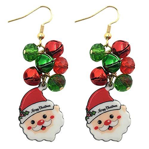 Fascigirl Creative Santa De Noël Décoratif Goutte Boucle D Oreille Pendentif Boucle D Oreille De Noël Boucle D Oreille Décoration