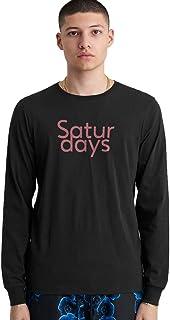 SATURDAYS SURF NYC 最新 LONG TEE(WHITE/COBALT/BLACK) / サタデーズ ニューヨークシティ ロンT カットソー ロングTシャツ