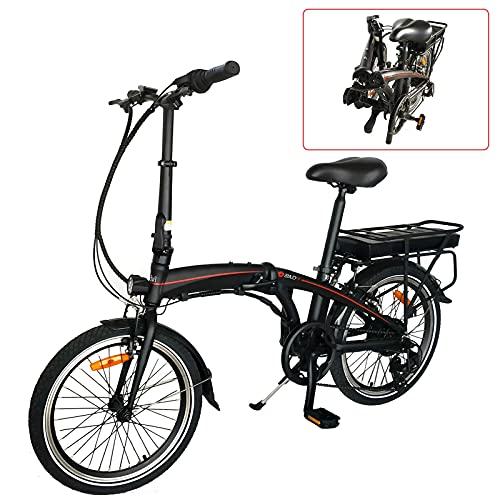 Bicicleta de montaa elctrica Motor Bicicleta Plegable Bicicleta eléctrica Plegable eléctrica 36V240W Bicicleta eléctrica para Adultos con 3 Modos de conducción Bicicleta Unisex