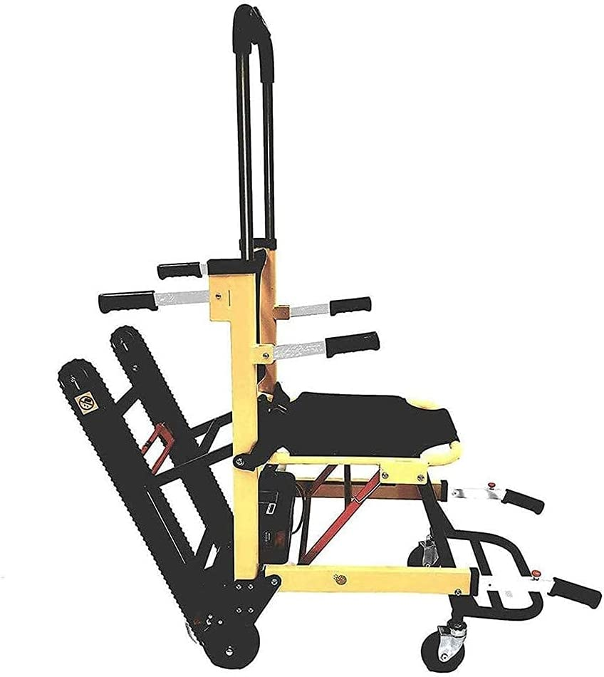 FGVDJ Silla de Ruedas eléctrica para Subir escaleras, Silla para Subir escaleras Silla para Subir escaleras de Emergencia Silla Plegable sobre orugas con Pilas