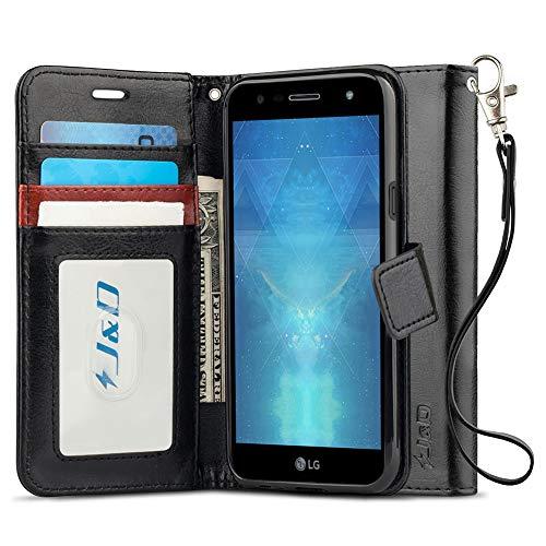 JundD Kompatibel für LG X Power 3 Leder Hülle, [Handytasche mit Standfuß] [Slim Fit] Robust Stoßfest PU Leder Flip Handyhülle Tasche Hülle für LG X Power 3 Hülle - [Nicht für LG X Power 2/LG X Power]