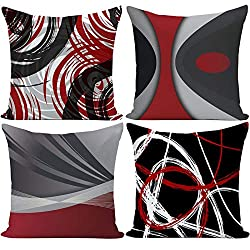 Modern Red Black and White Abstract Design Cover Set