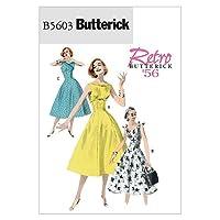 【Butterick】レトロ50年代デザインワンピースの型紙セット サイズ:US6-8-10-12 *5603
