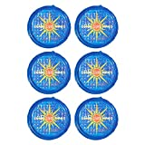 Solar Sun Rings UV Resistant Above Ground Inground Swimming Pool Hot Tub Spa Heating Accessory Circular Heater Solar Cover, Blue (6 Pack)