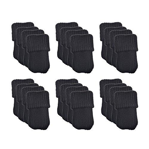 Calze in maglia di lana per gambe di mobili/sedie, 24 pezzi, protezione per pavimenti, nero, BHBAZUHAZA2483