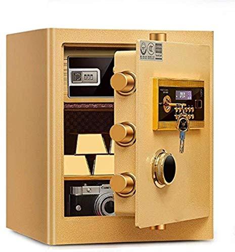 Caja Fuerte de Seguridad Gabinete de Pantalla LCD Caja Fuerte Huella Digital Oficina Mesita de Noche Contraseña electrónica Alta Seguridad Toda la Placa de Acero Caja de Seguridad Caja Fuerte Caja fu