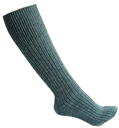 Original Socken der Deutschen Bundeswehr Strümpfe lange und kurze Variante Grau Schuhgrößen 38-48 (43, Lang)