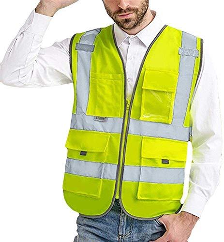 Outdoor zichtbaarheid reflecterend vest Vest Reflecterende Veiligheid Fietsen Reflective Jacket Men Werk van de weg Hoge Visibilitypullover mouwloze jas Safety Vest Blouse Veilig en ademend verkeer