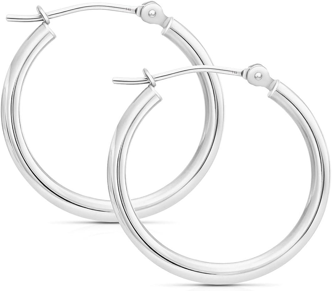 14k Gold Hoop Earrings, 0.8