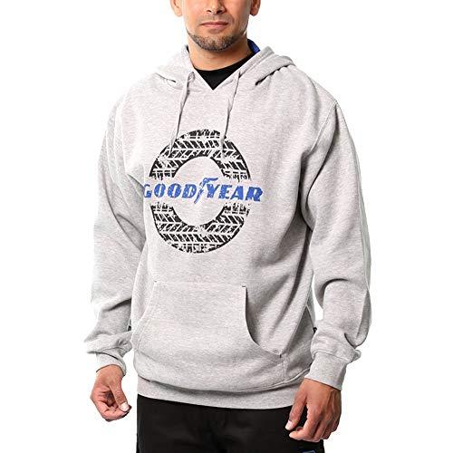 Goodyear Arbeitskleidung GYSWT024 Herren Pullover Thermal Graphischer Druck der Arbeit mit Kapuze Känguru-Tasche Hoodie, Grau Marl, Large