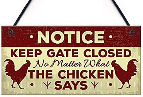 Chicken Tenders Street Sign Funny Home Decor Garage Wall Plastic Gag Gift
