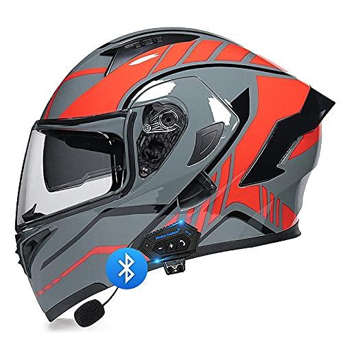 Motorradhelm Helm Motorrad Bluetooth...