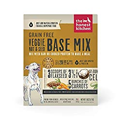 The honest kitchen dog food grain free veggie, nut and seed base mix