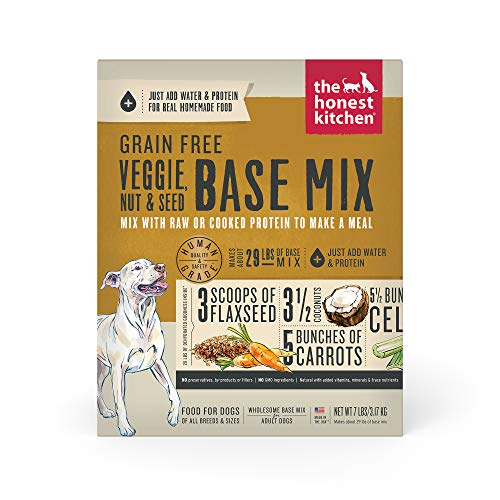 The Honest Kitchen Human Grade Dehydrated Grain Free Veggie, Nut & Seed Base Mix for Dogs 7 lb - Kindly