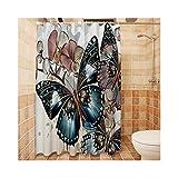 Anwaz Duschvorhang Polyester Schmetterling Design Bad Vorhang Stil 5 150x180CM