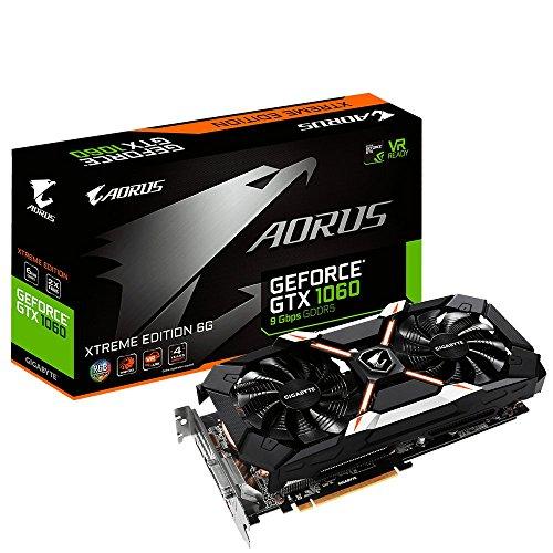 Gigabyte GV-N1060AORUS X-6GD AORUS Xtreme GeForce GTX 1060 6G 9 Gbps Computer Graphics Card