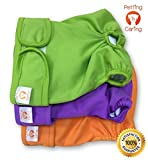 Dog Diapers Washable & Reusable by PETTING IS CARING - Female and Male
