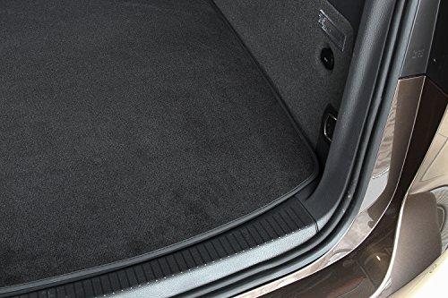 tuning-art BM3115 Kofferraummatte für Nissan Micra V K14 2017- Gummi Rückseite, Naht:Schwarz