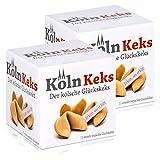 Köln Keks der kölsche Glückskeks 66g - Weizengebäck mit Spruch (2er Pack)