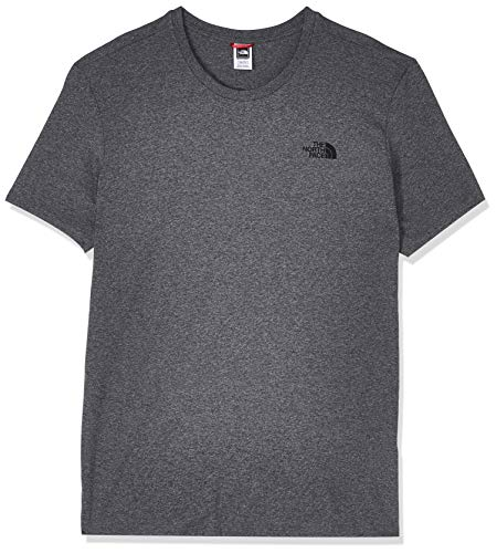 The North Face T92TX5 Camiseta De Manga Corta Simple Dome, Hombre, Multicolor (Tnfmdgyhtr (Std)), L