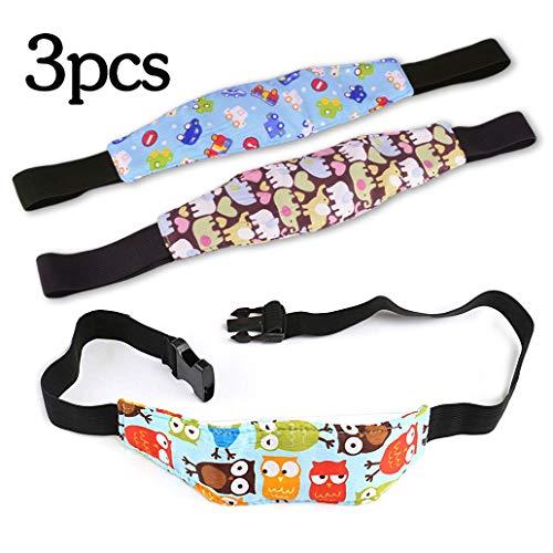 Silingsan 3Pcs Bambini del Bambino Cinghia auto Sicurezza, Cinturino Supporto Testa Bambini, Dormire Cintura di sicurezza per Seggiolino Auto