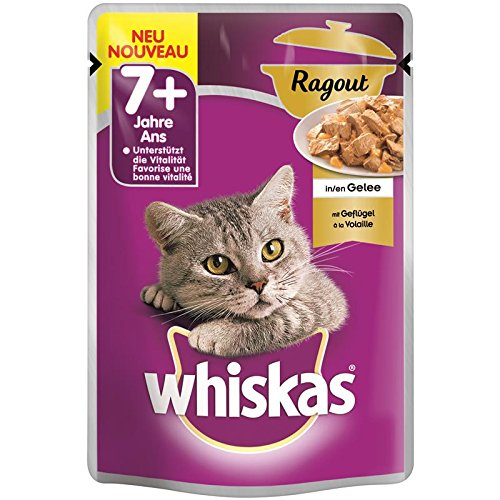Whiskas 7+ mit Geflügel in Gelee | 24x 100g Katzennassfutter