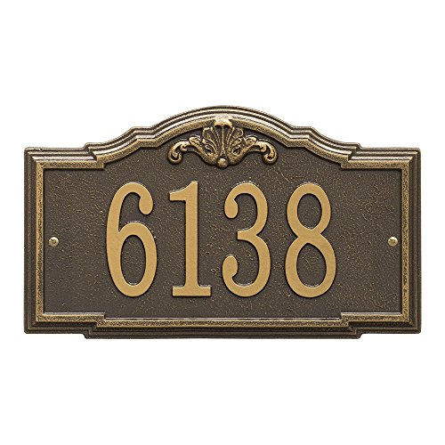 "Whitehall Custom Gatewood Standard Wall Address Plaque 14.25"" W x 8.5"" H (1 Line)"