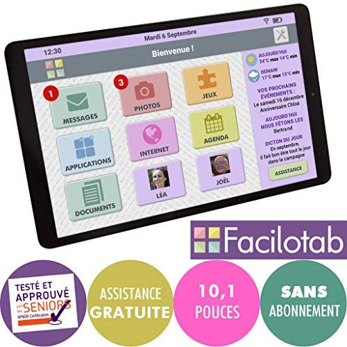 FACILOTAB Tablette simplifiée L Galaxy - WiFi/4G - 32 Go -...