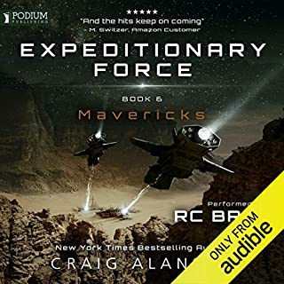 Mavericks     Expeditionary Force, Book 6              Written by:                                                                                                                                 Craig Alanson                               Narrated by:                                                                                                                                 R. C. Bray                      Length: 17 hrs and 21 mins     399 ratings     Overall 4.7