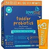 Lovebug Probiotic and Prebiotic for Kids, 15 Billion CFU, for Children 12 Months to 4...