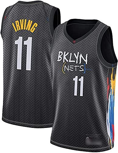 Brooklyn Nets # 11 Kyrie Irving Jersey, Atmungsaktive Verschleißfeste Gestickte Mesh Basketball Swingman Trikots,Schwarz,S:165~170cm