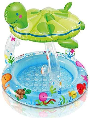 DFKDGL Klapppool Pool, Familienpool für Kinder, 102-maliger Baby-Ponton, 107-cm-Gartenpool, Schwimmring Pa Ideal für alle Kinder und Erwachsene